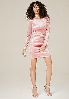 Ella Crushed Velvet Dress