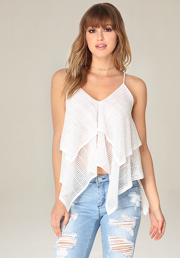 Sheer Tiered Cami