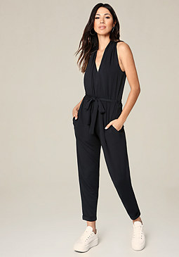 bebe French Terry Jumpsuit