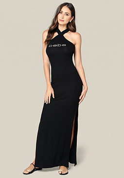 bebe Logo Colleen Maxi Dress