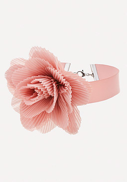 bebe Pleated Flower Choker