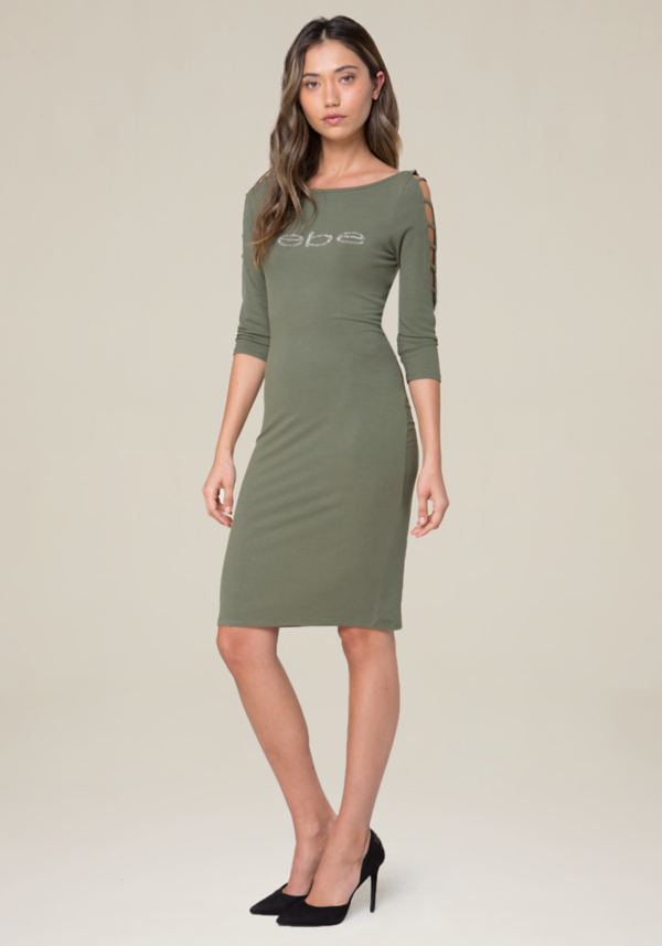 Logo Boatneck Dress at bebe in Sherman Oaks, CA | Tuggl