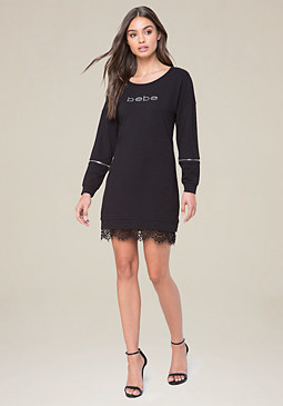 bebe Logo Kyna Popover Dress