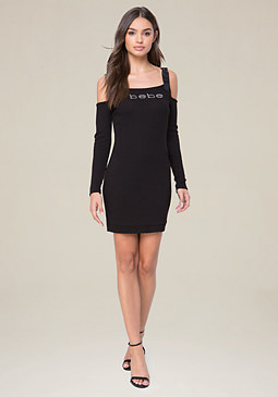 bebe Logo D-Ring Strap Dress