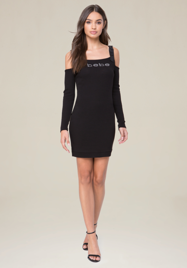 Logo D-Ring Strap Dress at bebe in Sherman Oaks, CA | Tuggl
