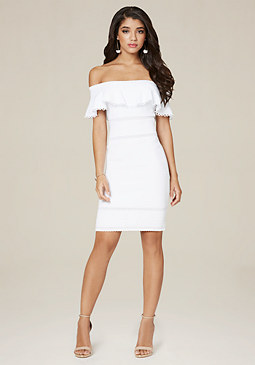 bebe Lina Off Shoulder Dress