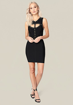 bebe Leah Studded Dress