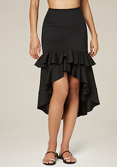 Ruffled Hi-Lo Skirt