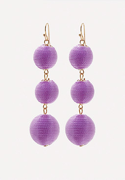 bebe Triple Orb Drop Earrings