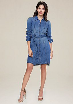 bebe Denim Shirtdress