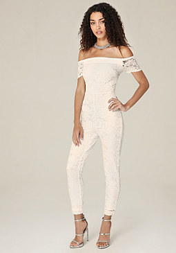 bebe Sam Lace Jumpsuit