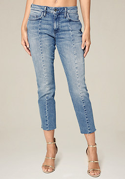 bebe Center Seam Crop Jeans
