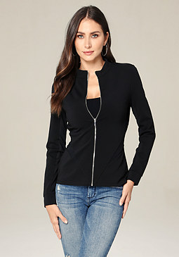Tabitha Zip Up Jacket at bebe