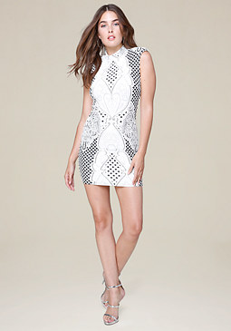 bebe Alex Jacquard Dress