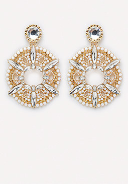 bebe Statement Drop Earrings