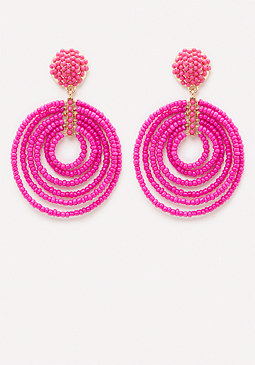 bebe Beaded Circle Earrings