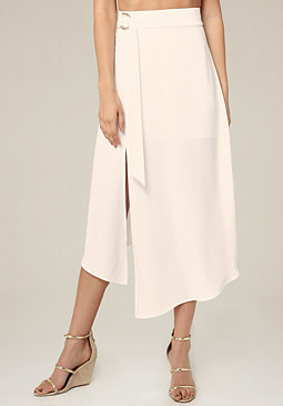 bebe Petite Side Ring Tie Skirt