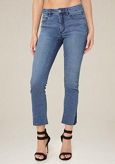 Block Gusset Crop Jeans