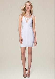 Crossfront Bandage Dress