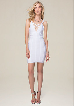 bebe Crossfront Bandage Dress