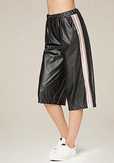 Racer Stripe Crop Pants
