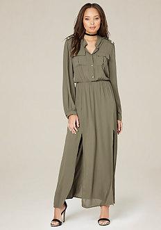 Military Maxi Dress