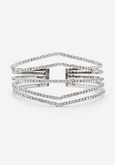 Crystal Angular Cuff