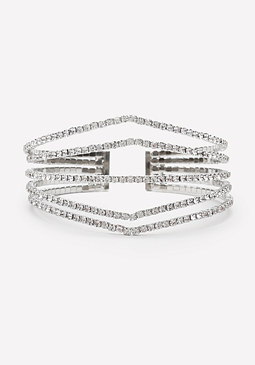 bebe Crystal Angular Cuff