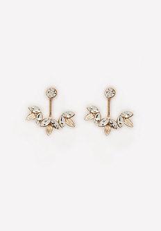 Crystal Cluster Ear Jackets