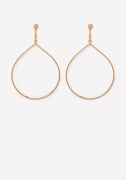 bebe Teardrop Hoop Earrings