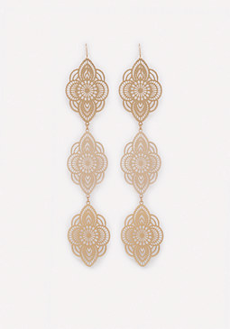 bebe Filigree 3-Drop Earrings