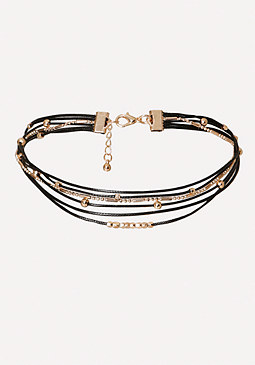 bebe Multi-Row Choker