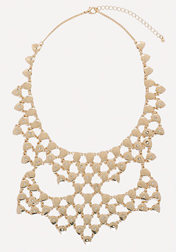 bebe Teardrop Bib Necklace