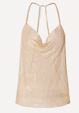 bebe Crystal Mesh Body Chain