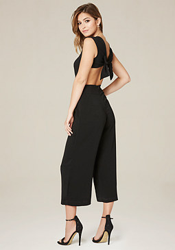 bebe Crop Leg Day Jumpsuit