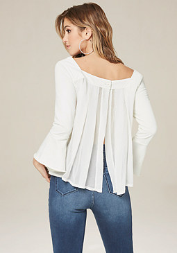 bebe Pleated Top
