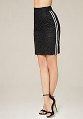 bebe Racer Stripe Lace Skirt