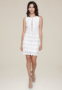 bebe Jenny Lace Tiered Dress