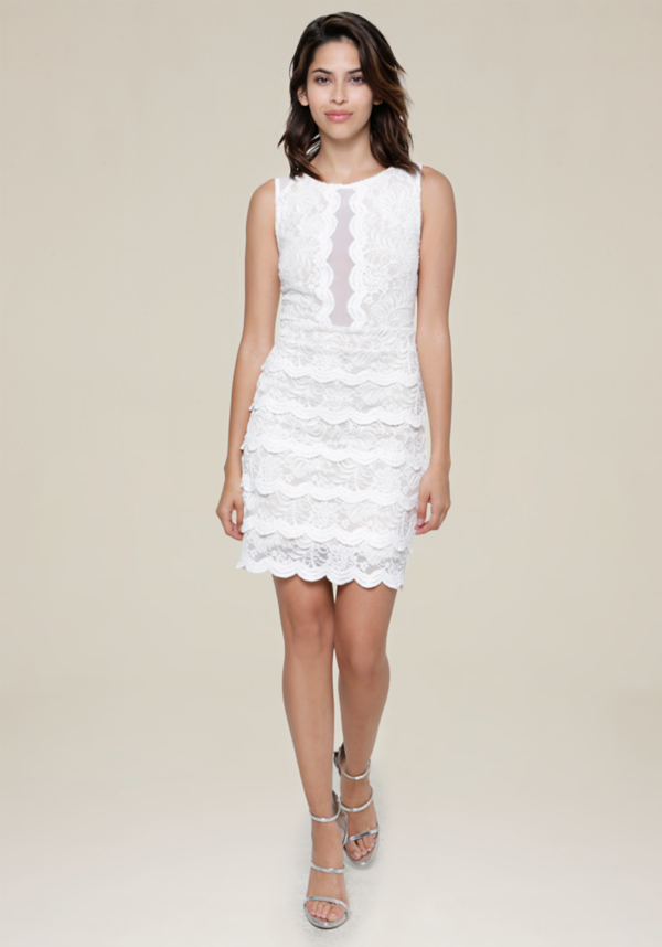 Jenny Lace Tiered Dress at bebe in Sherman Oaks, CA | Tuggl