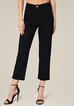 bebe Clean High Rise Crop Jeans