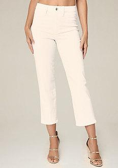 Clean High Rise Crop Jeans
