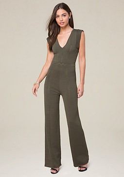 bebe Pointelle Knit Jumpsuit