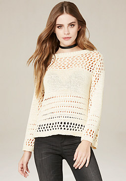 bebe Open Stitch Sweater