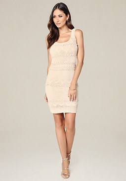 bebe Crystal Knit Dress