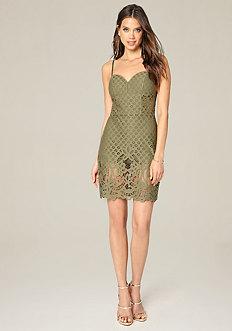 Alix Lace Shorts Dress