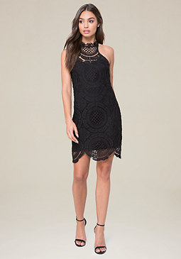 bebe Vanessa Crochet Dress