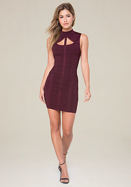 bebe Saundra Bandage Dress
