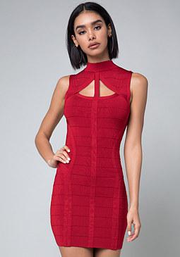 Bebe red cocktail dress
