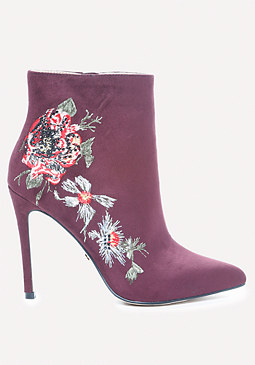 bebe Delonix Embroidered Booties