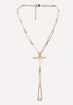 bebe Safety Pin Lariat